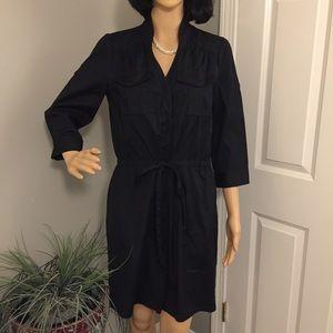 Ann Taylor Loft Petites black dress